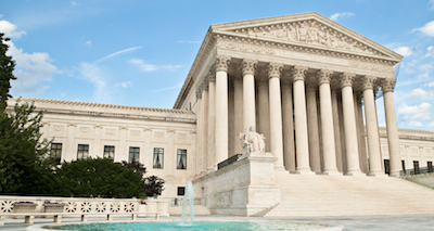 The United States Supreme Court Building in Washington DC